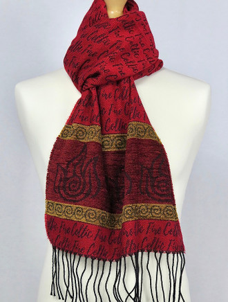 Celtic Border Element Scarf - Fire