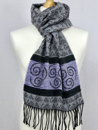 Celtic Border Element Scarf - Air