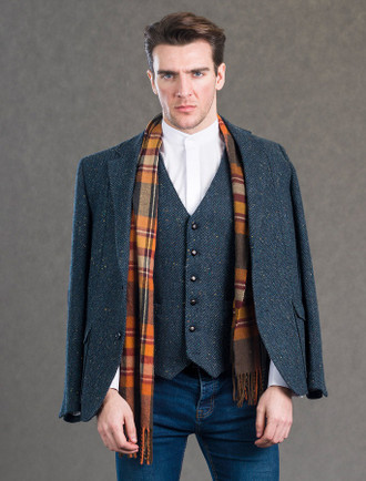 Kavanagh Blue Tweed Classic Fit Jacket