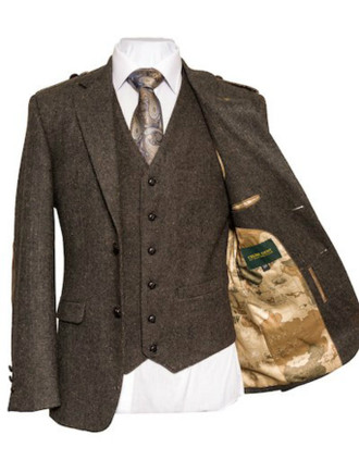 Oscar Wilde Tweed Brown Jacket