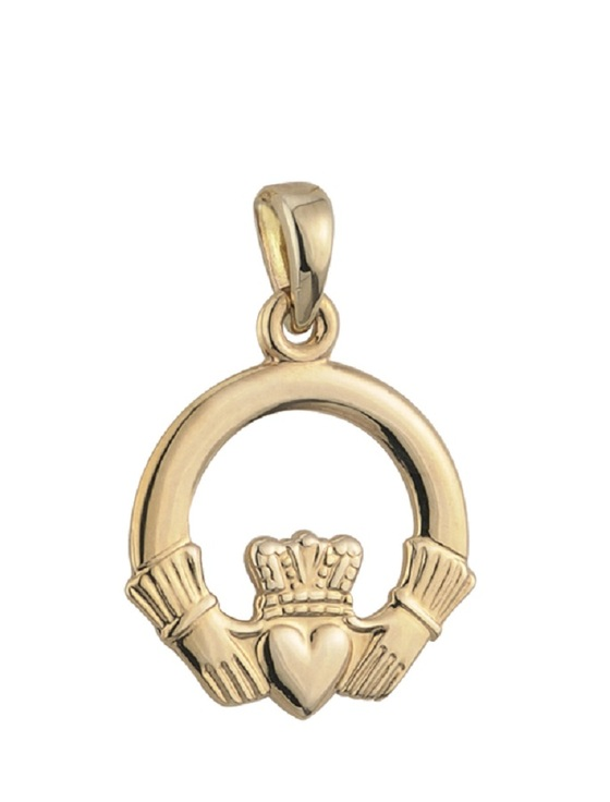 9K Gold Claddagh Pendant