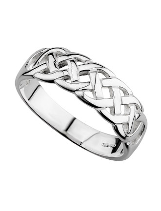 LADIES STERLING SILVER CELTIC WOVEN RING