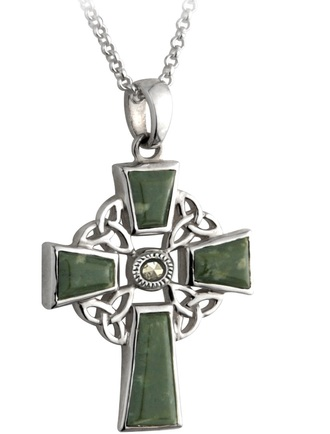 Connemara Marble Celtic Cross Pendant