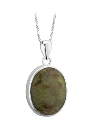 Connemara Marble Sterling Silver Oval Marble Pendant