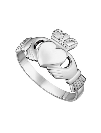Sterling Silver Maids Claddagh Ring