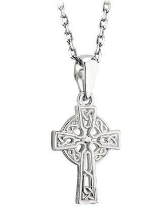 Sterling Silver Tiny Filagree Celtic Cross Pendant