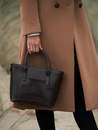 Ladies Tote Leather Bag- Turf