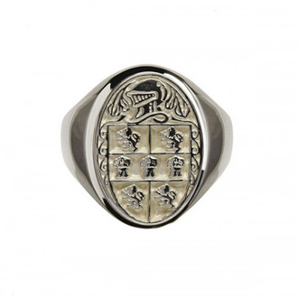 Murphy Clan Official Sterling Silver Gents Heavy Oval Ring