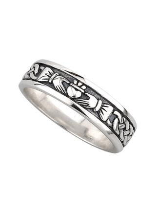 Ladies Oxidised Claddagh Ring