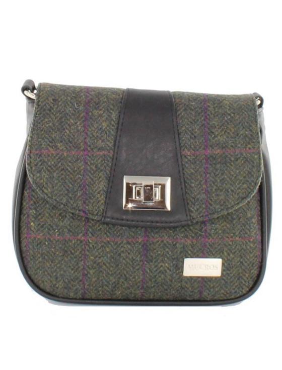 Sarah Tweed Bag - Forest Green