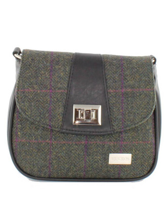 Sarah Tweed Bag - Forest Green