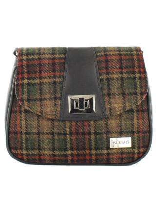 Sarah Tweed Bag - Green &  Rust Plaid