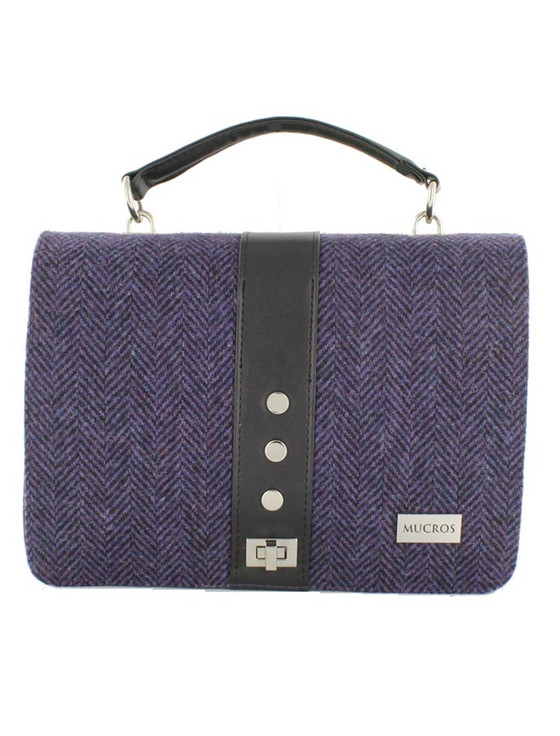 Fiona Tweed Bag - Dark Purple
