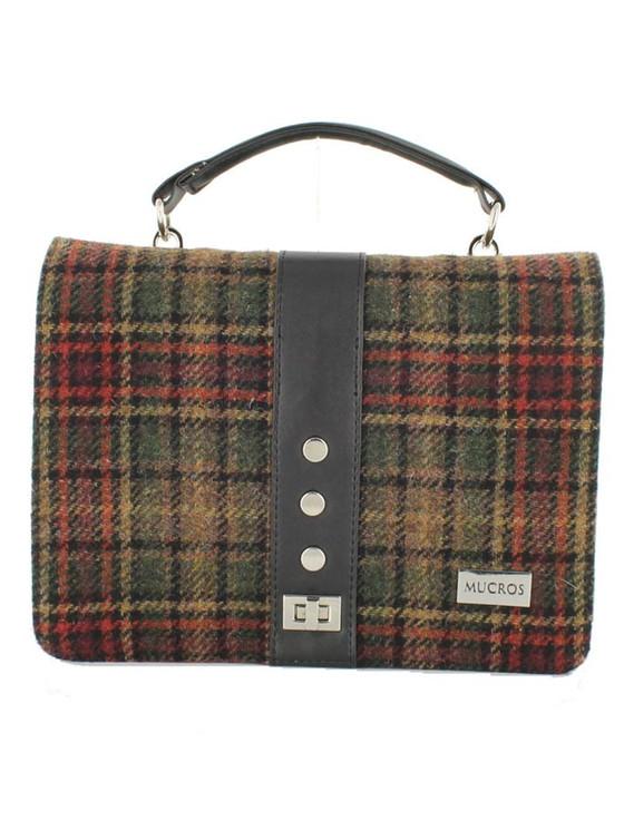 Fiona Tweed Bag - Green Rust Plaid