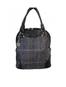 Abbie Tweed & Leather Bag - Navy, Green & Brown Plaid