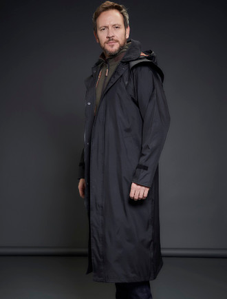 Donegal Men's Waterproof Bush Coat - Black