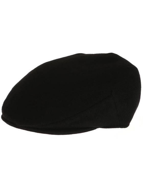Vintage Tweed Flat Cap - Solid Black