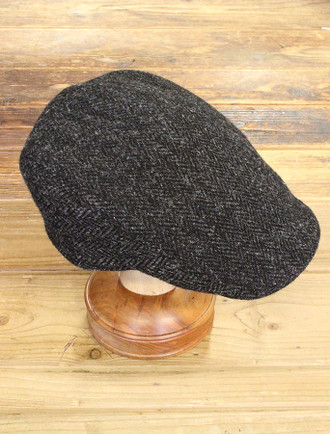 Donegal Touring Cap - Black Herringbone