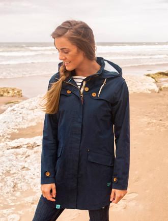 Killeany Ladies Waterproof Trench Coat - Night Sky