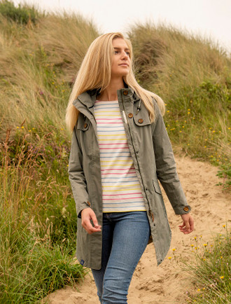 Rathlin Ladies Waterproof Trench Coat - Brushwood