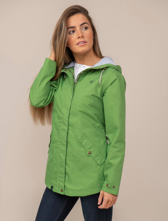 Kilronan Ladies Waterproof Coat - Meadow Green