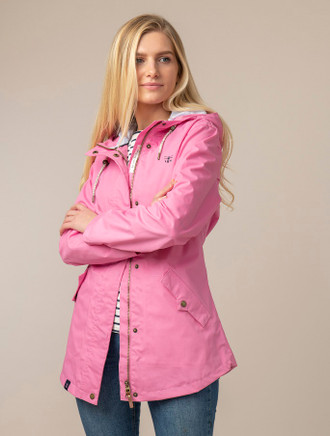Kilronan Ladies Waterproof Coat - Soft Pink