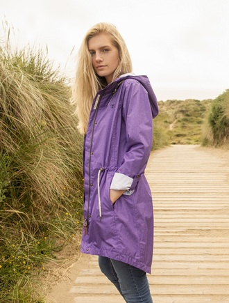 Emily Waterproof Parka Jacket - Violet