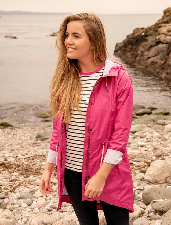 Emily Waterproof Parka Jacket - Raspberry