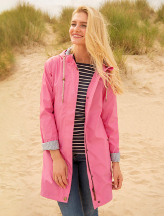Eochaill Ladies 3/4 Waterproof Coat - Soft Pink