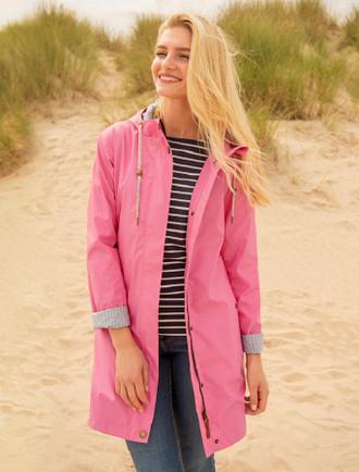 Bowline Ladies 3/4 Waterproof Coat - Soft Pink