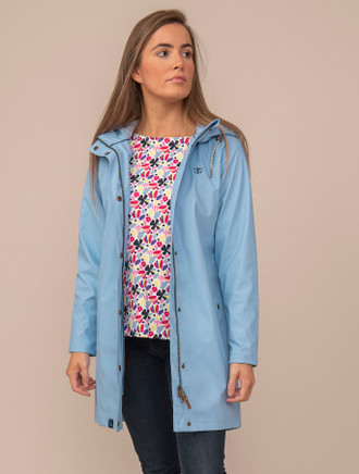 Eochaill Ladies 3/4 Waterproof Coat - Bluebell