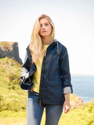Eochaill Ladies Short Waterproof Coat - Night Sky