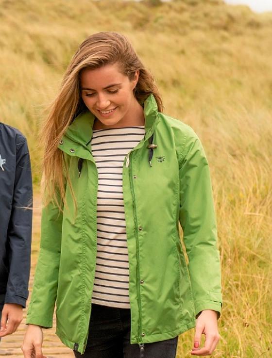 Beachcomber Ladies Waterproof Coat - Meadow Green