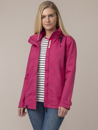 Benan Ladies Waterproof Coat - Raspberry