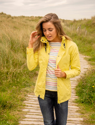 Benan Ladies Waterproof Coat - Lemon