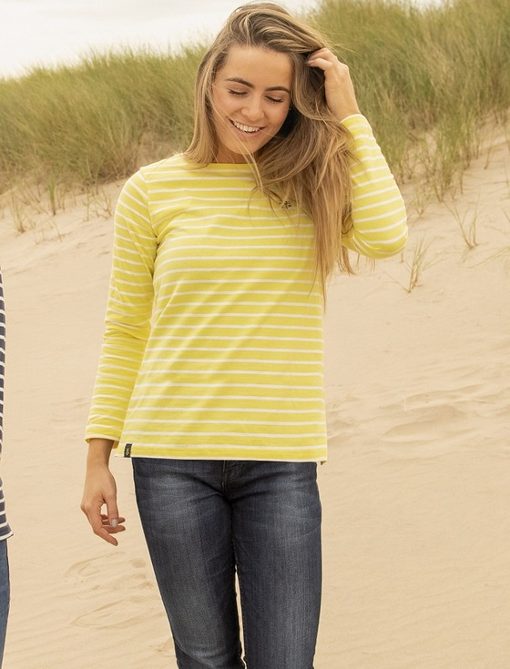 Causeway Long Sleeved T-Shirt - Lemon Stripe