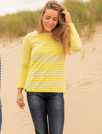 Causeway Long Sleeved T-Shirt - Lemon Stripe