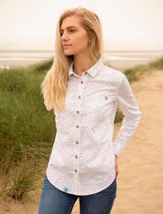 Mainistir Ladies Cotton Shirt - Oxford Spot