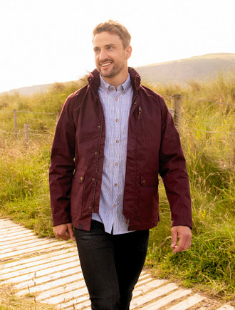 Islander Men's Waterproof Country Jacket - Oxblood