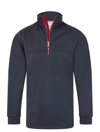 Alainn Men's Half-Zip Sweater - Navy