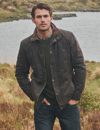 Carrickfergus Men's Waxed Jacket - Java