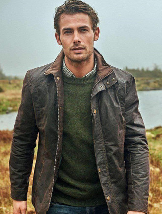 Carrickfergus Men's Waxed Jacket - Olive