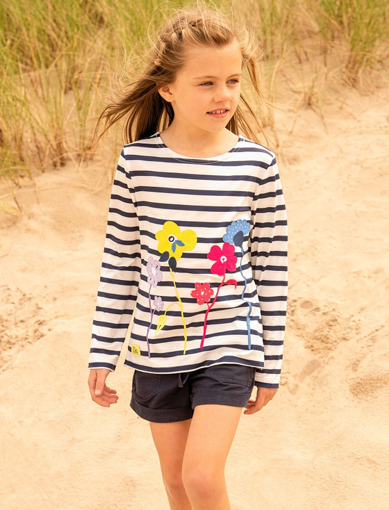 Causeway Girls Long Sleeve T-Shirt - Floral