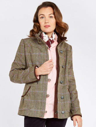 Bracken Ladies Tweed Jacket - Woodrose
