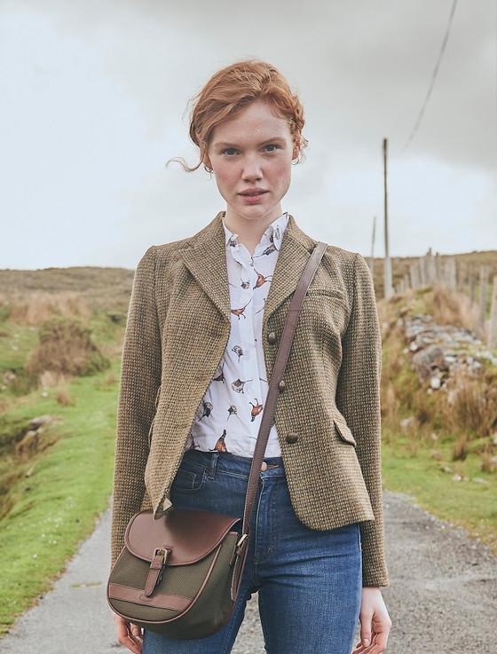 Buttercup Ladies Fitted Tweed Jacket- Heath