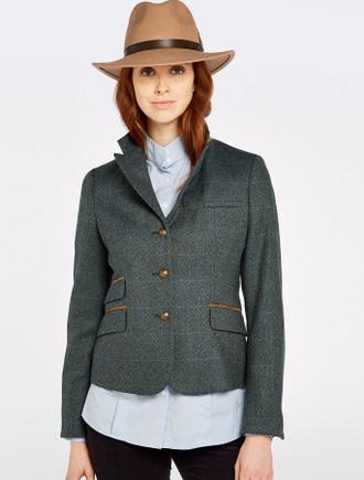 Buttercup Ladies Fitted Tweed Jacket- Mist