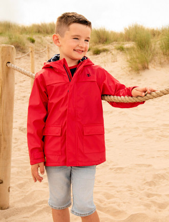 Anchor Boys Raincoat - Pillar Box Red