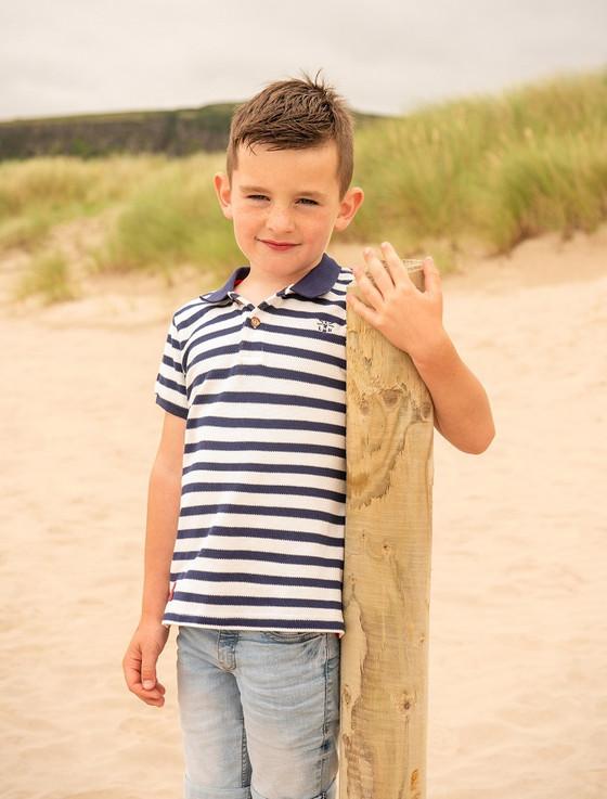 Pier Boys Short Sleeve Polo Shirt - Eclipse Stripe