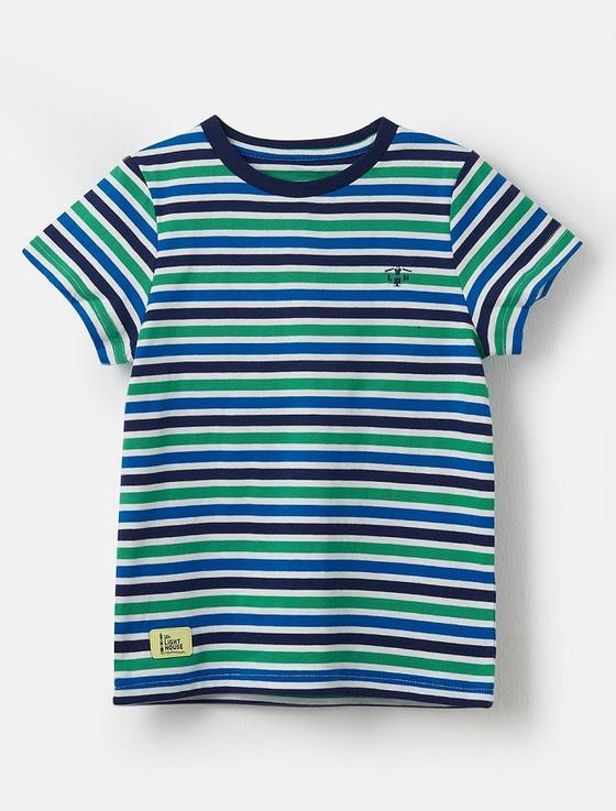 Oliver Boys Short Sleeve T-Shirt - Green Stripe