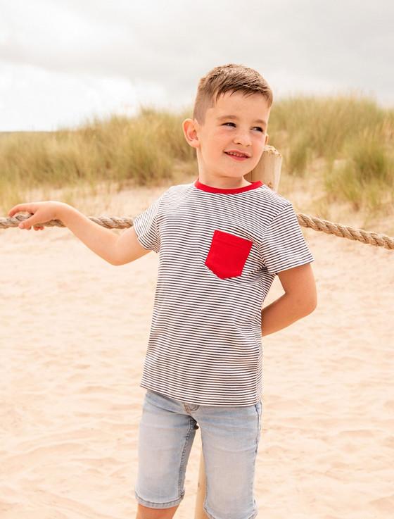 Oliver Boys Short Sleeve T-Shirt - Eclipse Stripe